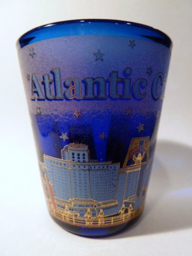 Atlantic City New Jersey Blue Shot Glass