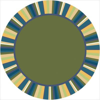 Just for Kidss Clean Green Bold Kids Round Rug Size: Round 13'2""