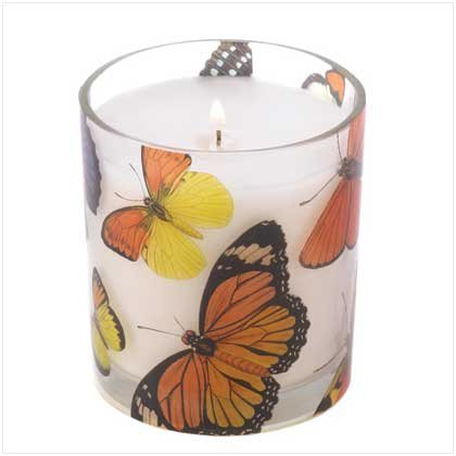 Wild Orchid Scented Butterfly Glass Fantasy Candle