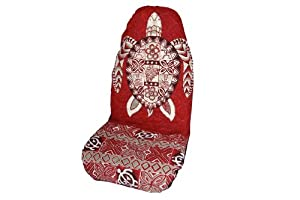 Red Honu (Sea Turtle) Hawaiian Car Seat Covers (Standard Size) by Winnie Fashion
