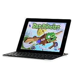 PrimeCases® iPad 4 Ultrathin Keyboard -- Apple iPad 4 Ultrathin Bluetooth 3 Keyboard-Protective Case.