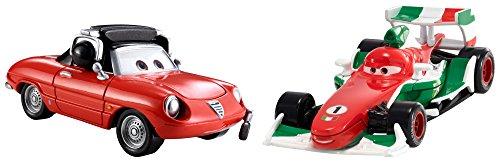 Mattel CDP68 - Disney Cars Die-Cast 2er Pack Francesco Bernoulli und Guiseppe Motorosi