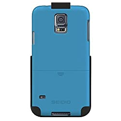 Seidio SURFACE Case and Holster Combo for use with Samsung Galaxy S5 - Combo Pack - Retail Packaging - Electric Blue