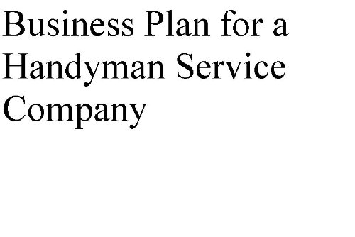 Business plan handyman