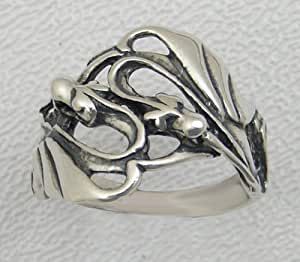A Magical Double Dragon Ring in Sterling Made in America