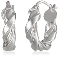 Sterling Silver Twist Hoop Earrings from FMC Fashion Manufacturing Co
