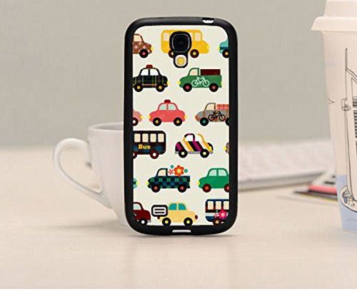 Cute Cartoon /Lovely Cars Classic Theme Phone Custom Case For Samsung Galaxy S4 I9500 Cute Cartoon/Lovely Cars Cartoons Series Special Design,Plastic Cell Phone Sets back-57979