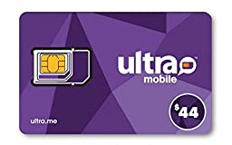 Ultra Mobile Triple Punch Regular + Micro + Nano all-in-one SIM Card + with $44 Plan