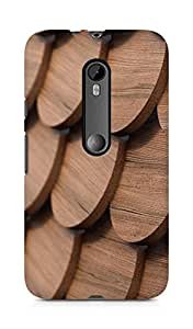 Amez designer printed 3d premium high quality back case cover for Moto G Turbo Edition (Wooden Shingles)