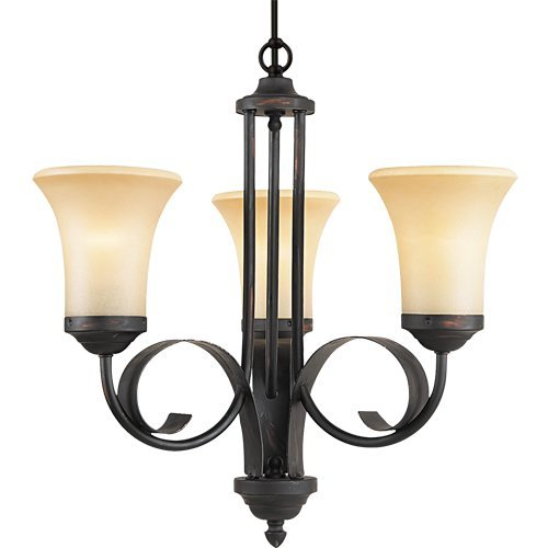 Royce Lighting RLCH017-19 Outdoor Lighting Collection Portable 5-Light Indoor/Outdoor Chandelier, Sepia Tinted Glass Shades, Espresso Finish