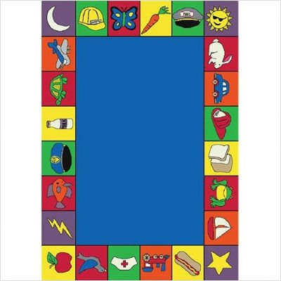 "Joy Carpets Kid Essentials Early Childhood Jump Start Rug, Multicolored, 5'4"" x 7'8"""