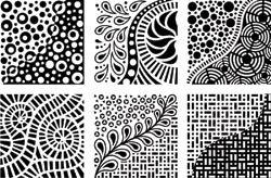 Cedar Canyon Textiles Artist's Paintstiks Rubbing Plates 6/Pkg Doodles