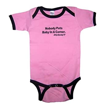 Amazon com baby infant dirty dancing baby in the corner one piece outfit 12 18 months pink
