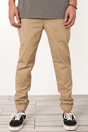 Elwood Men's Elastic Cuff Slim Chino Pants 34 Khaki (Elwood Pants compare prices)