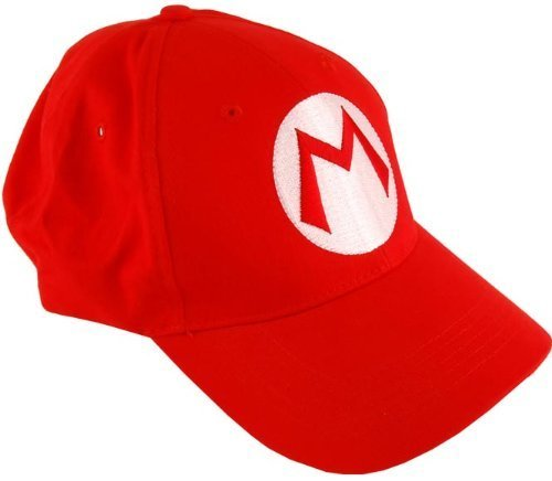 2PCS Super Mario Bros Baseball Cap Mario Luigi Cosplay Red Green