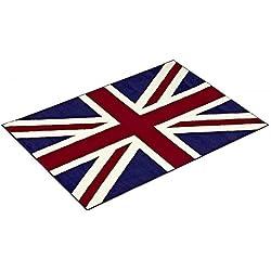 Design Velours Teppich Union Jack 101042, Größe:140 cm x 200 cm