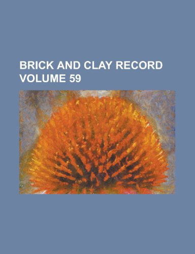 Brick and Clay Record Volume 59