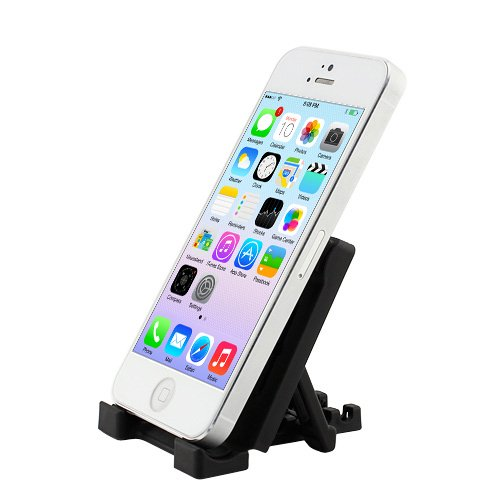 Ikross Black Universal Portable Collapsible Desk Stand Holder For Smartphones And Mp3 Players