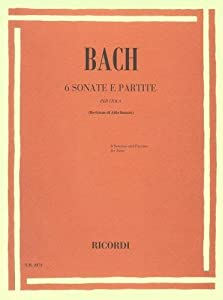Bach: Sonatas & Partitas BWV1001 - BWV1006 (transc. A.Bennici) (Viola Solo) from Ricordi
