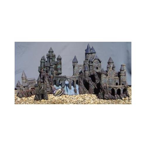 Magic castle kingdom set fish tank ornament for Fish tank castle decorations