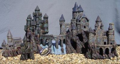 Magic castle kingdom set fish tank ornament decoration for Fish tank castle