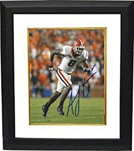 Autographed Green Picture - AJ Georgia Bulldogs 16X20 Custom Framed - Autographed... by Sports+Memorabilia