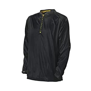 Demarini Men's Pyro Long Sleeve Batting Practice Jacket, Black, X-Large