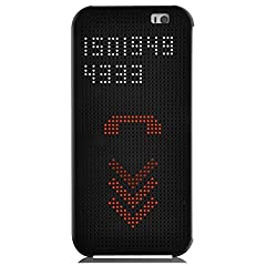 Micomy Dot View Touch Sense Flip Back Case Cover for HTC One A9 -Black