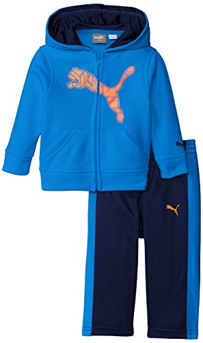PUMA Baby Boys' 2pc Hoodie and Pant Set, Sky Blue, 24 Months