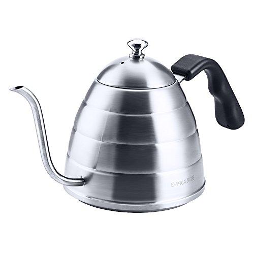 E-PRANCE Carafes à café et à thé coffee kettle Bouilloire en acier inoxydable,900ml