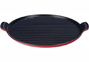 Le Creuset Enameled Cast Iron Bistro Grill Pan, 12-2 3-Inch, Cherry by Le Creuset