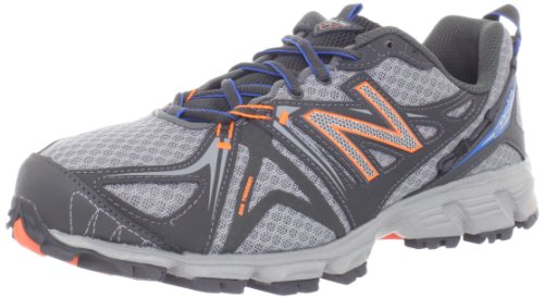 Balance - Mens 610v2 Cushioning Running Shoes, UK: 9 UK - Width 2E, Grey with Orange & Blue
