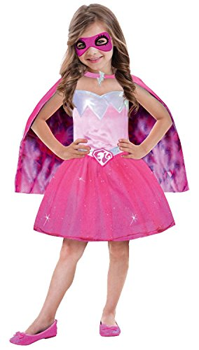 Amscan-999337-Kinderkostm-Barbie-Power-Prinzessin-circa-5-7-Jahre-Gre-116-pink
