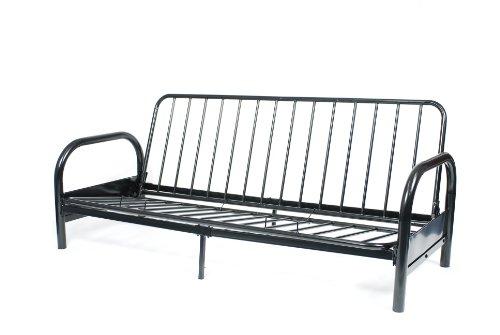 Roundhill Furniture Black Metal Futon Frame, Full (Futon Frame Metal compare prices)
