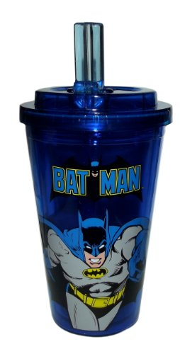 Batman Action 16Oz Flip Straw Cup