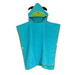 Bluestar Hooded Towels for Kids, Soft Girls & Boys Childrens Poncho Animal Bathrobe Robes Bath Towel