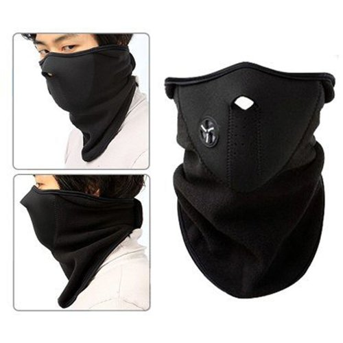 niceEshop(TM) Neoprene Fleece Half Face Nose Neck Ski Snowboard Bike Motorcycle Mask +niceEshop Cable Tie