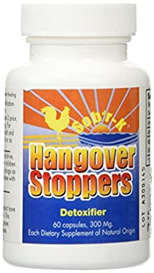 buy Hangoverstopper Hangover Pills With Free 6 Count Pack. Sob'R-K Hangover Remedy Made Exclusively In The Usa With 100% Medical Grade Super Activated Carbon (1 Bottle, 60 Capsules, 300Mg Each.)