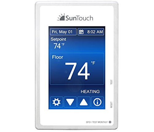 SunTouch Command 500850 Universal Touchscreen Radiant Floor Heating Programmable Thermostat Dual Voltage 120v/240v with floor sensor included (Radiant Floor Heating Controls compare prices)