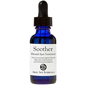 Soother - Organic Acne Spot Treatment with Argan, Frankincense and Bergamot - Prevent, Calm & Speed Healing for Breakouts & Blemishes 1 oz by Angel Face Botanicals