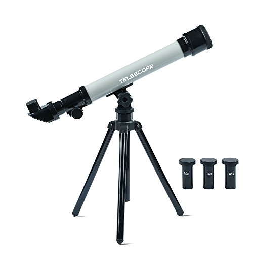 Youtop Educational Adjustable Tabletop 20/40/60X Astronomical Telescope Toy Starter Kit w/ Tripod for Kids Gray (Tabletop Playhouses For Kids compare prices)