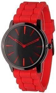 Geneva Red w/ Black Silicone Jelly Watch