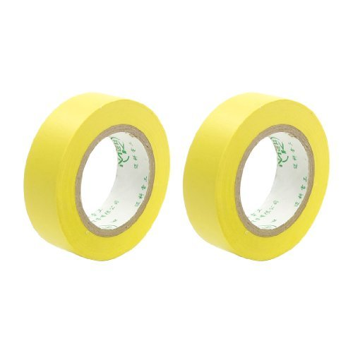 Water & Wood 2 Pcs 9M Long 18Mm Wide Yellow Pvc Adhesive Electrical Insulation Tape