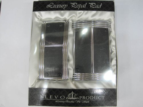 Elevo - Jet Silver - Black Racing Pedal Covers Automatic , Pedal Set Universal for car in Automotive