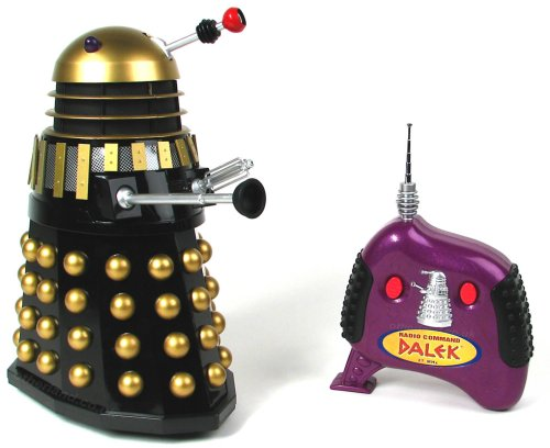 Radio Control Supreme Dalek (black with gold spheres) from Dr Who
