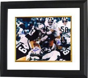LC Greenwood Autographed/Hand Signed Pittsburgh Steelers 16x20 Photo 4 sig Color Action Custom Frame at Amazon.com