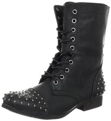 Madden Girl Women's Gewelz Boot,Black,5 M US