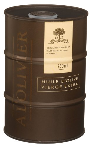 L'Olivier Extra Virgin Olive Oil In Drum, 750 ml (25 fl. oz.) Drums (Pack of 2)