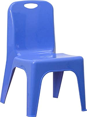 Flash Furniture YU-YCX-011-BLUE-GG Blue Plastic Stackable School Chair