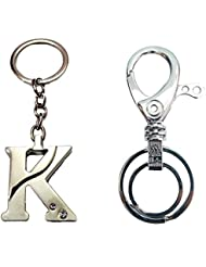 """City Choice Combo Of Alphabet """"K"""" With Unique Design Hook & Locking Keychains"""